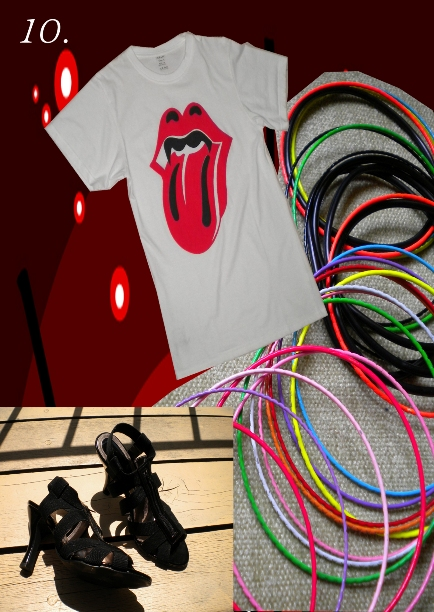 brilliant bangles and rolling stone tees